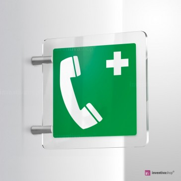 Cartello Telefono di emergenza E004 bifacciale