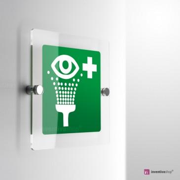 Cartello Plex: Stazione lavaocchi E011 monofacciale