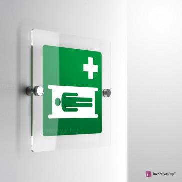 Cartello Plex: Barella d'emergenza E013 monofacciale