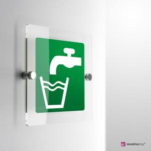 Cartello Plex: Acqua potabile E015 monofacciale