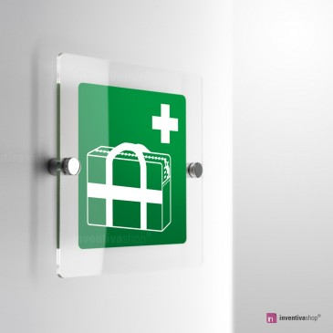 Cartello Plex: Borsa medica d'emergenza E027 . monofacciale