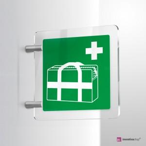 Cartello Plex: Borsa medica d'emergenza E027 bifacciale