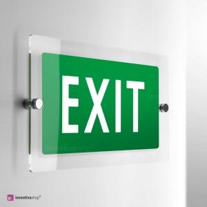 Cartello Plex: Scritta EXIT di emergenza monofacciale