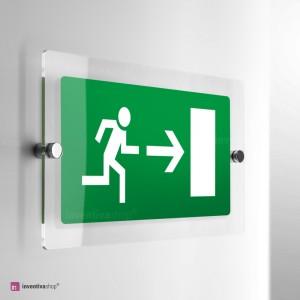 Cartello Plex: Uscita porta di emergenza monofacciale