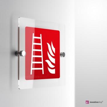 Cartello Plex: Scala antincendio F003 monofacciale