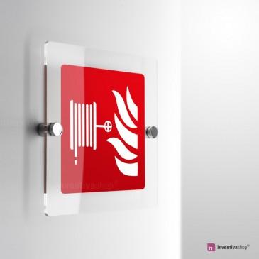 Cartello Plex: Lancia antincendio F002 monofacciale