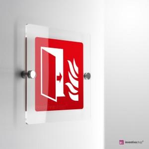 Cartello Plex: Porta tagliafuoco F007 monofacciale