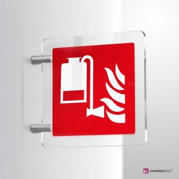 Cartello Plex: Gruppo antincendio a schiuma F010 bifacciale