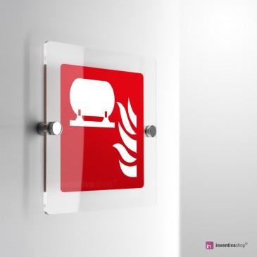 Cartello Plex: Installazione fissa antincendio F012 monofacciale