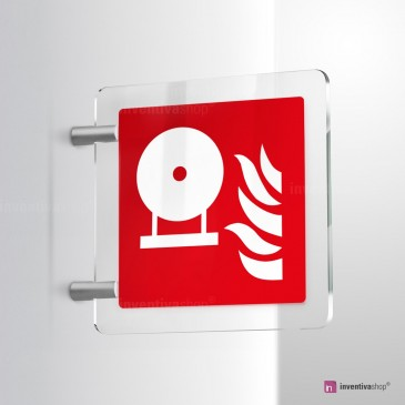 Cartello Plex: Estintore fisso antincendio F013 bifacciale