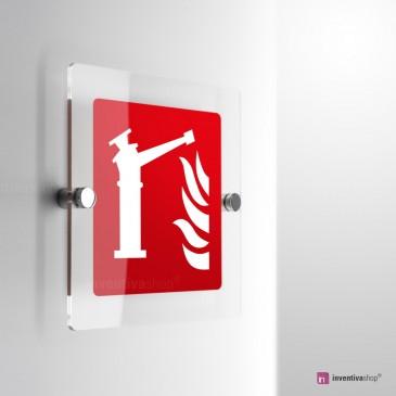 Cartello Plex: Spingarda antincendio F015 monofacciale