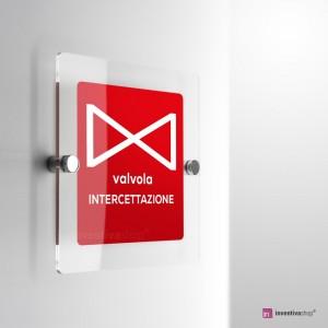Cartello Plex: Valvola intercettazione monofacciale