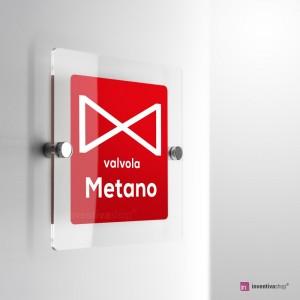 Cartello Plex: Valvola metano monofacciale