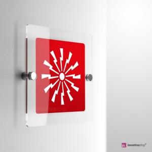 Cartello Plex: Sirena allarme antincendio monofacciale