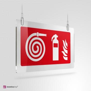 Cartello Plex: Idrante con estintore a soffitto