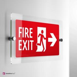 Cartello Plex: Uscita antincendio monofacciale