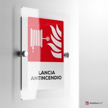 Cartello Plex: Antincendio Lancia