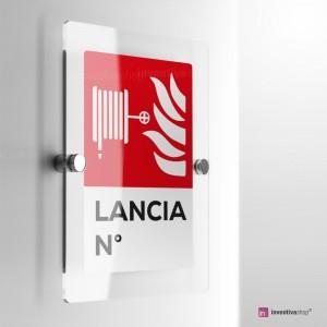 Cartello Plex: Antincendio Lancia numerata