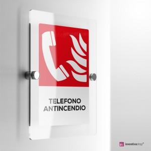 Cartello Plex: Antincendio telefono