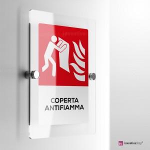 Cartello Plex: Antincendio coperta antifiamma