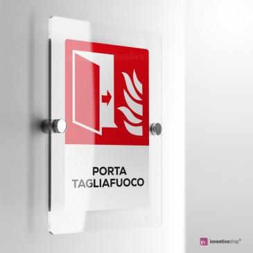 Cartello Plex: Antincendio porta tagliafuoco