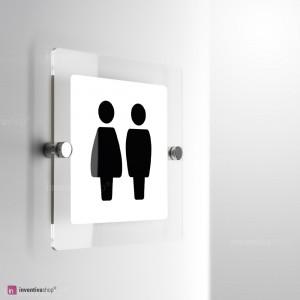 Cartello Plex: Toilette Bold monofacciale