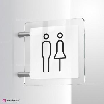 Cartello Plex: Toilette Line bifacciale