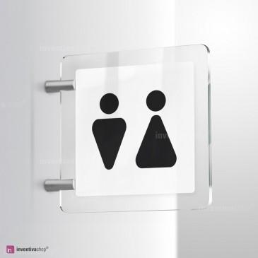 Cartello Plex: Toilette Triangle bifacciale