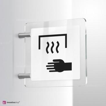 Cartello Plex: Asciugatore automatico a parete bifacciale