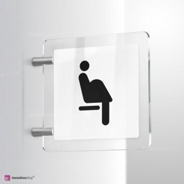 Cartello Plex: Donna incinta posto riservato bifacciale