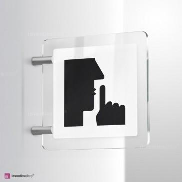 Cartello Plex: Fare silenzio bifacciale