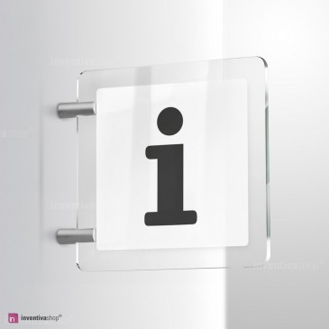 Cartello Plex: Punto informazioni bifacciale