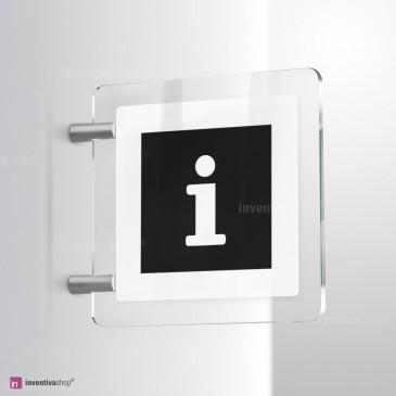 Cartello Plex: Punto informazioni vers.B bifacciale