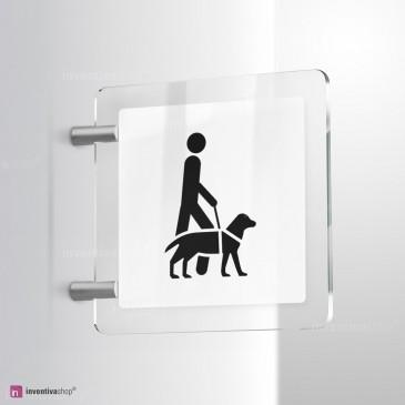 Cartello Plex: Accesso consentito ai cani da assistenza bifacciale
