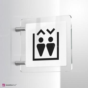 Cartello Plex: Ascensore Triangle bifacciale