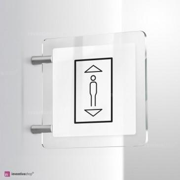 Cartello Plex: Ascensore Line bifacciale