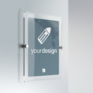 Cartello Plex personalizzabile: rettangolare verticale