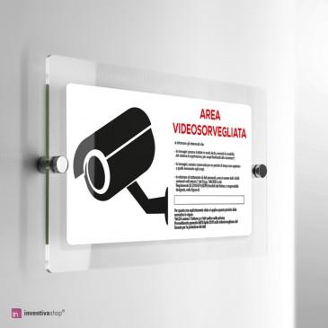 Cartello Plex: Area videosorveglianza orizzontale.