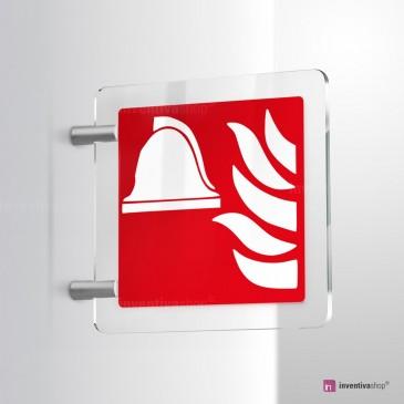 Cartello Plex: Attrezzatura antincendio F004 bifacciale