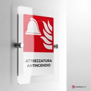 Cartello Plex: Antincendio Attrezzatura