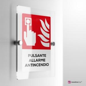 Cartello Plex: Antincendio pulsante allarme