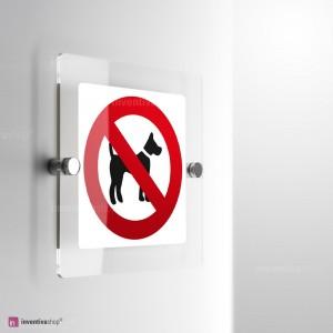 Cartello Plex: vietato l'accesso ai cani monofacciale
