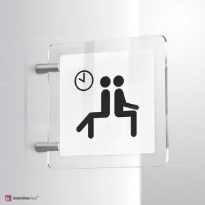 Cartello Plex: Sala d'attesa bifacciale