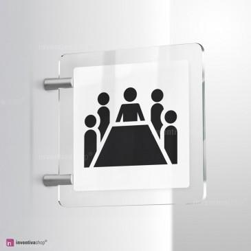Cartello Plex: Sala riunioni bifacciale