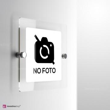 Cartello Plex: No foto monofacciale a parete