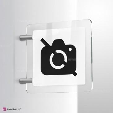 Cartello Plex: No foto bifacciale