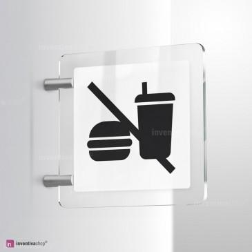 Cartello Plex: No cibo bifacciale