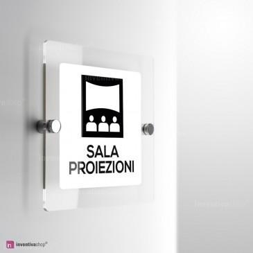 Cartello Plex: Sala proiezioni monofacciale a parete