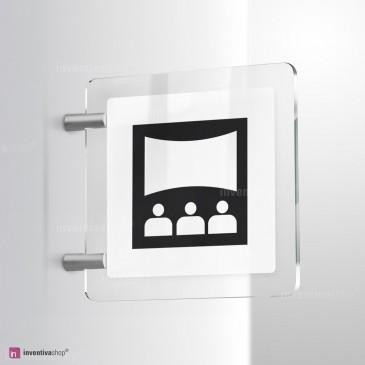 Cartello Plex: Sala proiezioni bifacciale