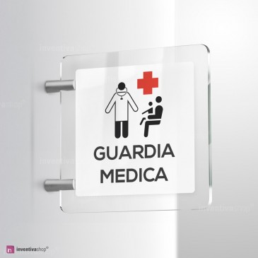 Cartello Plex: Guardia medica bifacciale
